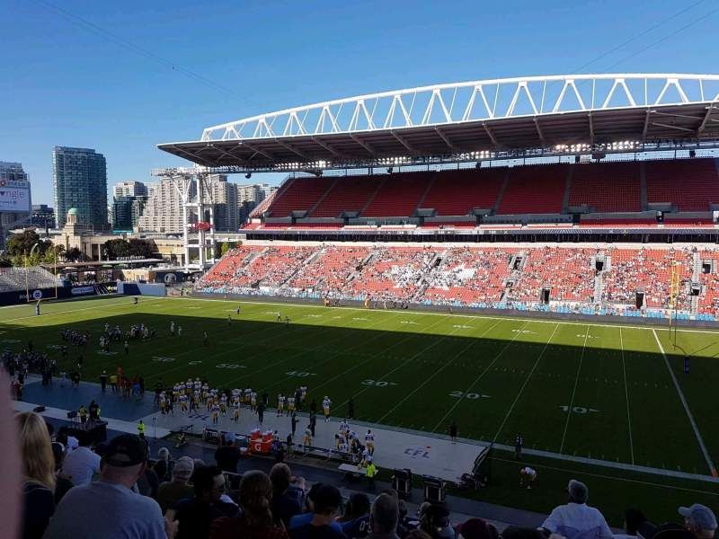 Seating view for BMO Field Section 221 Row 10 Seat 7