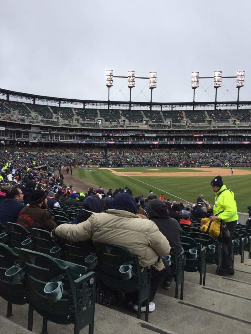 Seating view for Comerica Park Section 112 Row 25 Seat 21