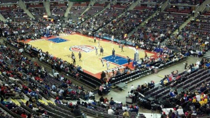 Seating view for The Palace of Auburn Hills Section 226 Row 1 Seat 11
