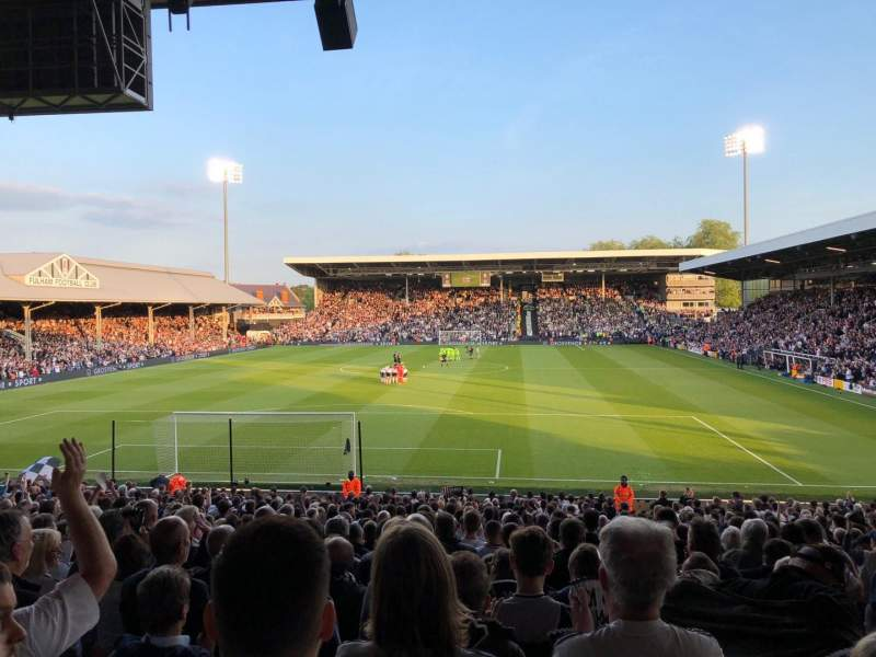 Craven Cottage, section: H5, row: BB, seat: 130