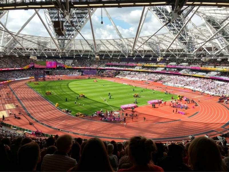 London Stadium, section: 245, row: 61, seat: 142