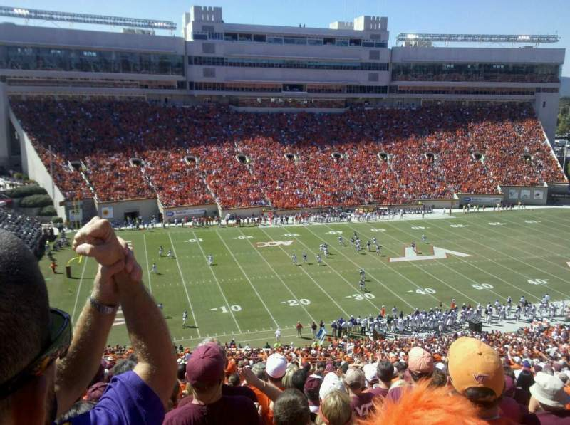 Seating view for Lane Stadium Section 37 Row 44 Seat 26