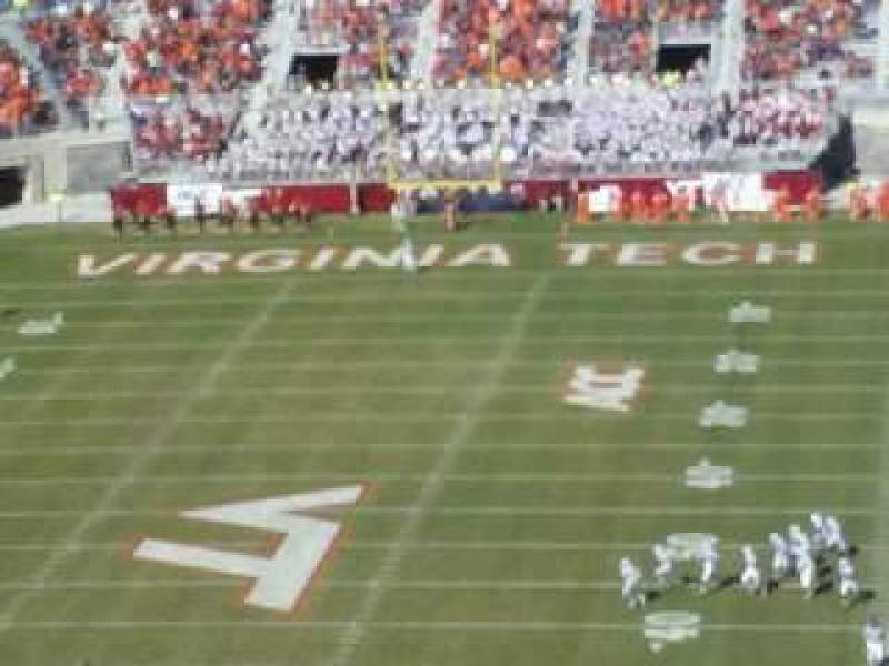Seating view for Lane Stadium Section 503 Row DD Seat 23