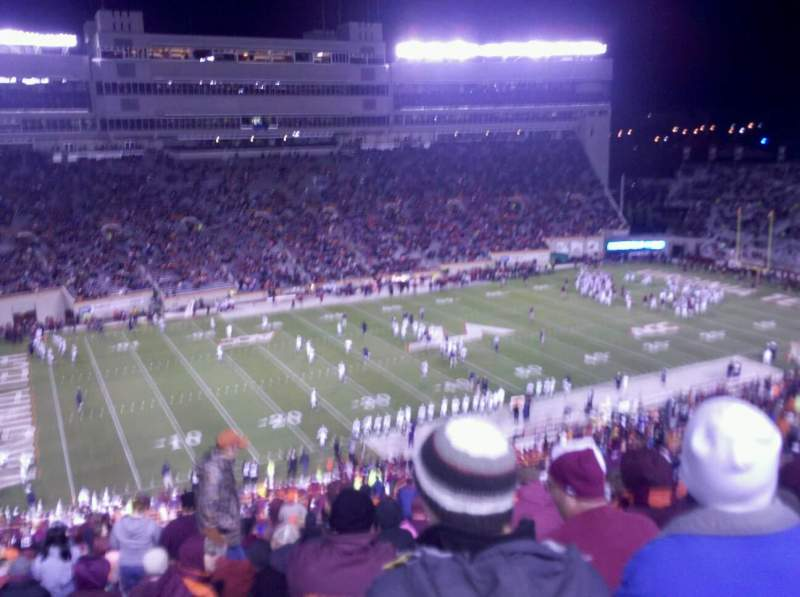 Seating view for Lane Stadium Section 37 Row 4G Seat 22