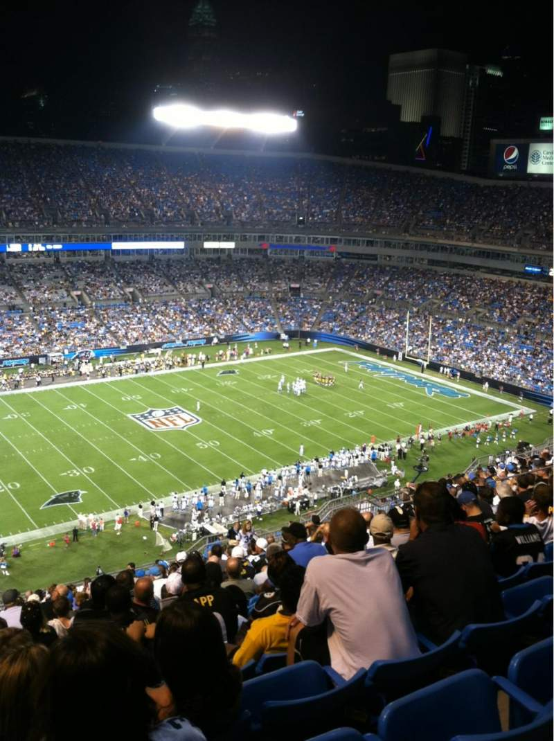 Seating view for Bank of America Stadium Section 544