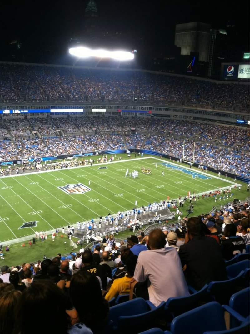 Bank of America Stadium, section: 544
