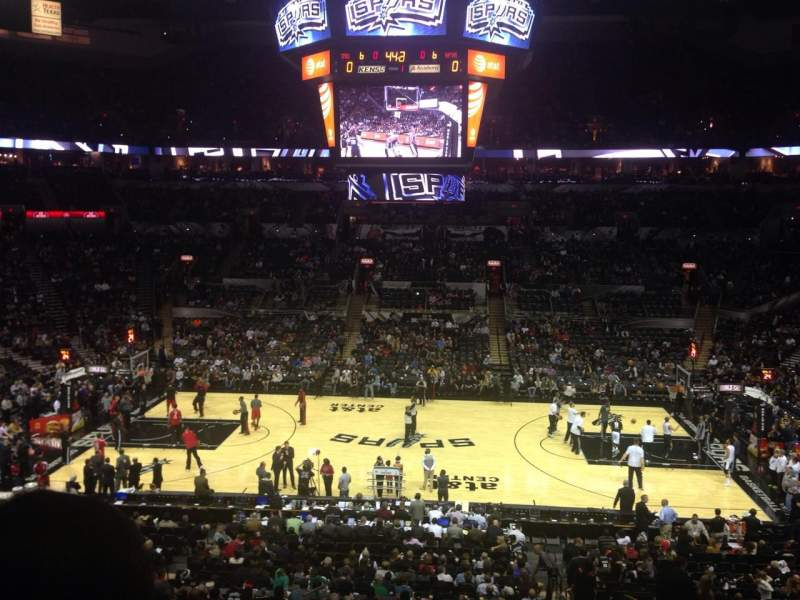 Seating view for AT&T Center Section 107 Row 31 Seat 5