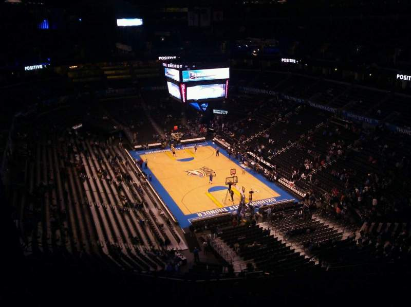 Seating view for Chesapeake Energy Arena Section 303