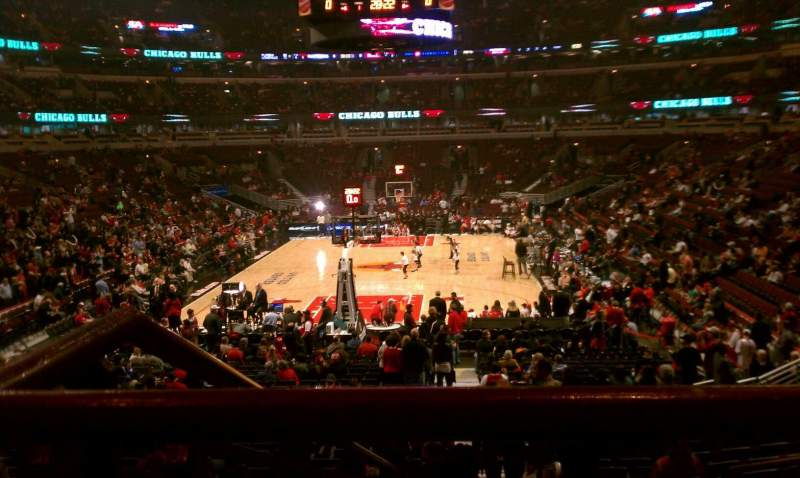 Seating view for United Center Section 106 Row 19 Seat 2