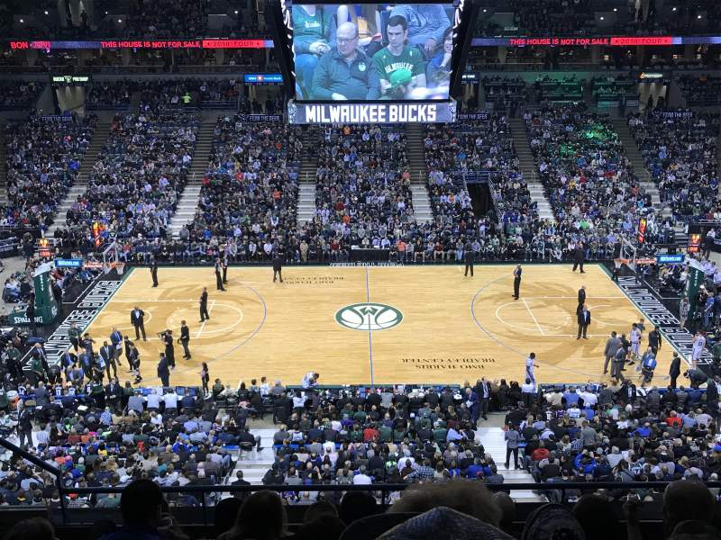 Seating view for BMO Harris Bradley Center Section 400 Row F Seat 9