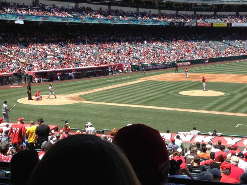 Seating view for Angel Stadium Section 223 Row D Seat 25