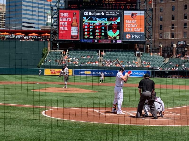 Seating view for Oriole Park at Camden Yards Section 40 Row 4 Seat 1