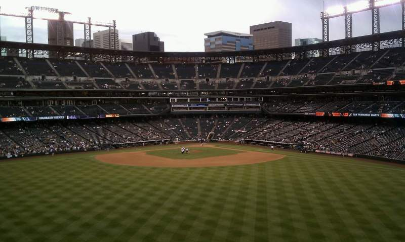 Seating view for Coors Field Section 402 Row 4 Seat 26