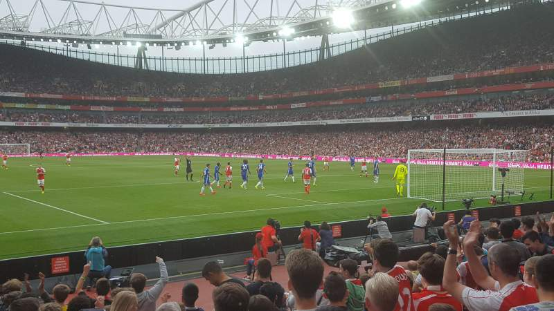 Seating view for Emirates Stadium Section 26 Row 11 Seat 821