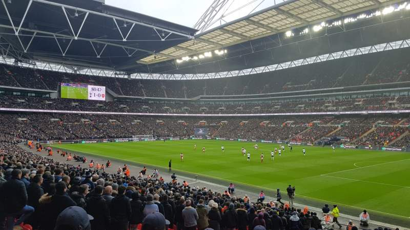 Seating view for Wembley Stadium Section 116 Row 42 Seat 123