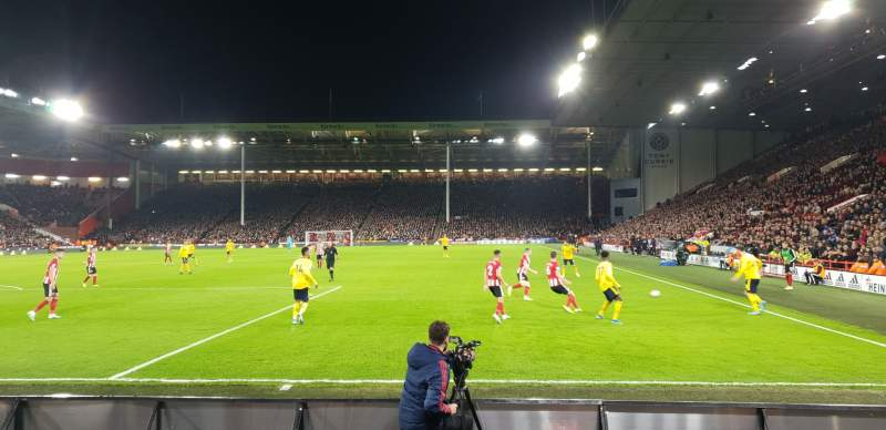 Seating view for Bramall Lane Section BL3 Row F Seat 148