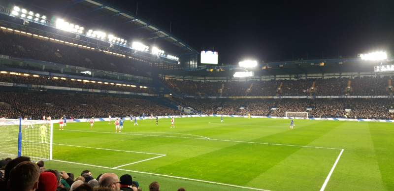 Seating view for Stamford Bridge Section Shed End Lower 2 Row 12 Seat 66