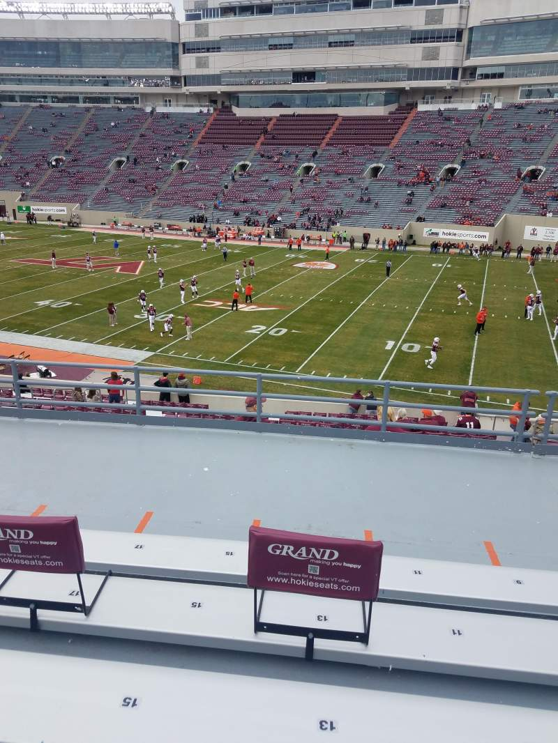 Seating view for Lane Stadium Section 3 Row LL Seat 13