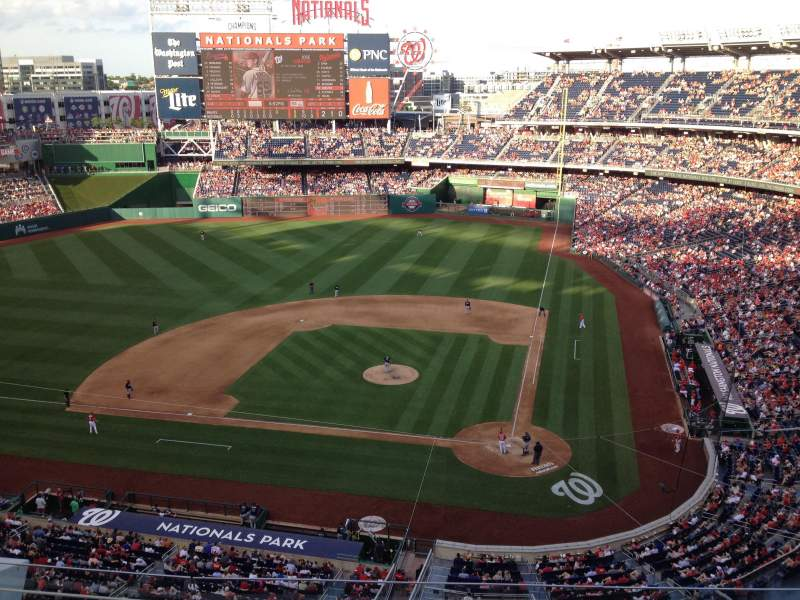 Seating view for Nationals Park Section 310 Row J Seat 6