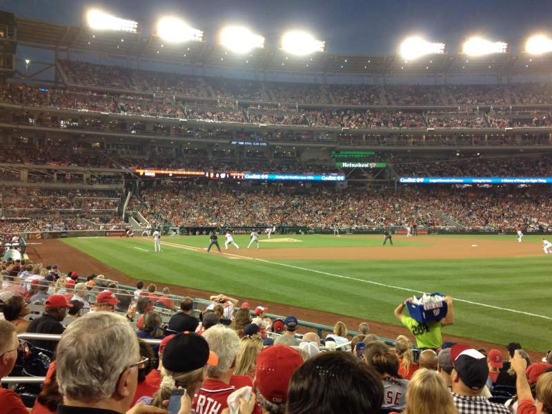 Seating view for Nationals Park Section 135 Row N Seat 7
