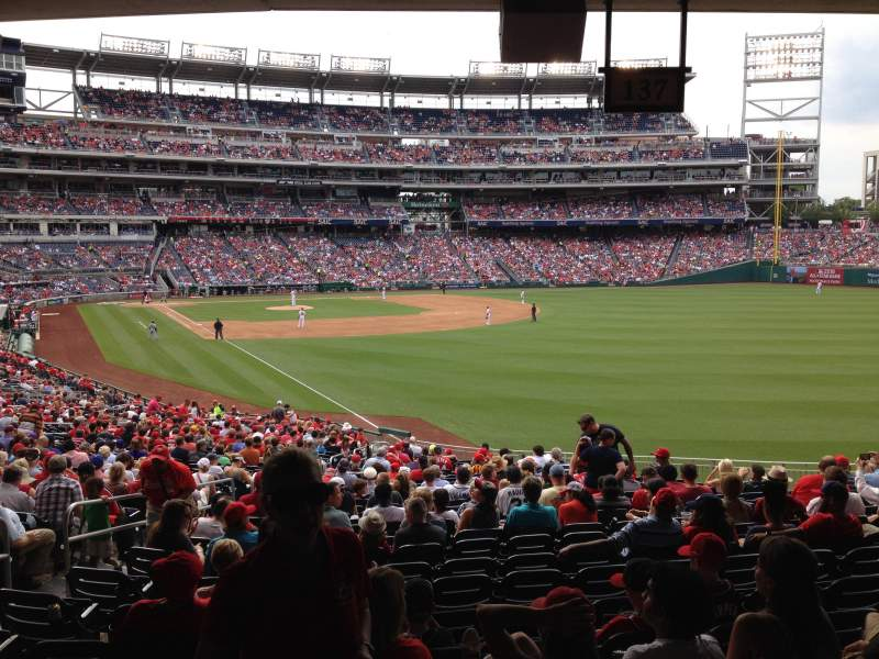 Seating view for Nationals Park Section 137 Row SS Seat 26