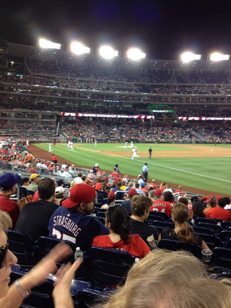 Seating view for Nationals Park Section 135 Row V Seat 8