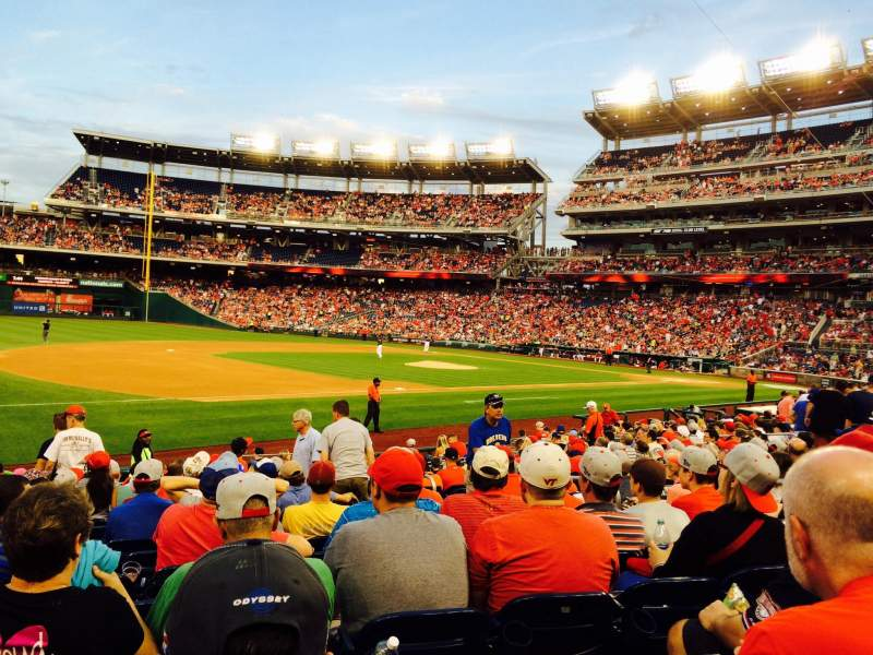 Seating view for Nationals Park Section 113 Row U Seat 9