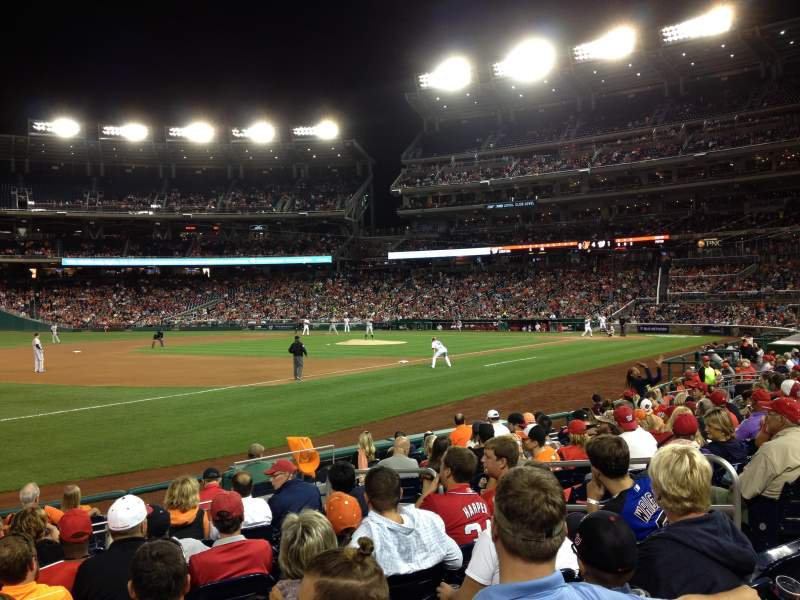Seating view for Nationals Park Section 112 Row M Seat 7