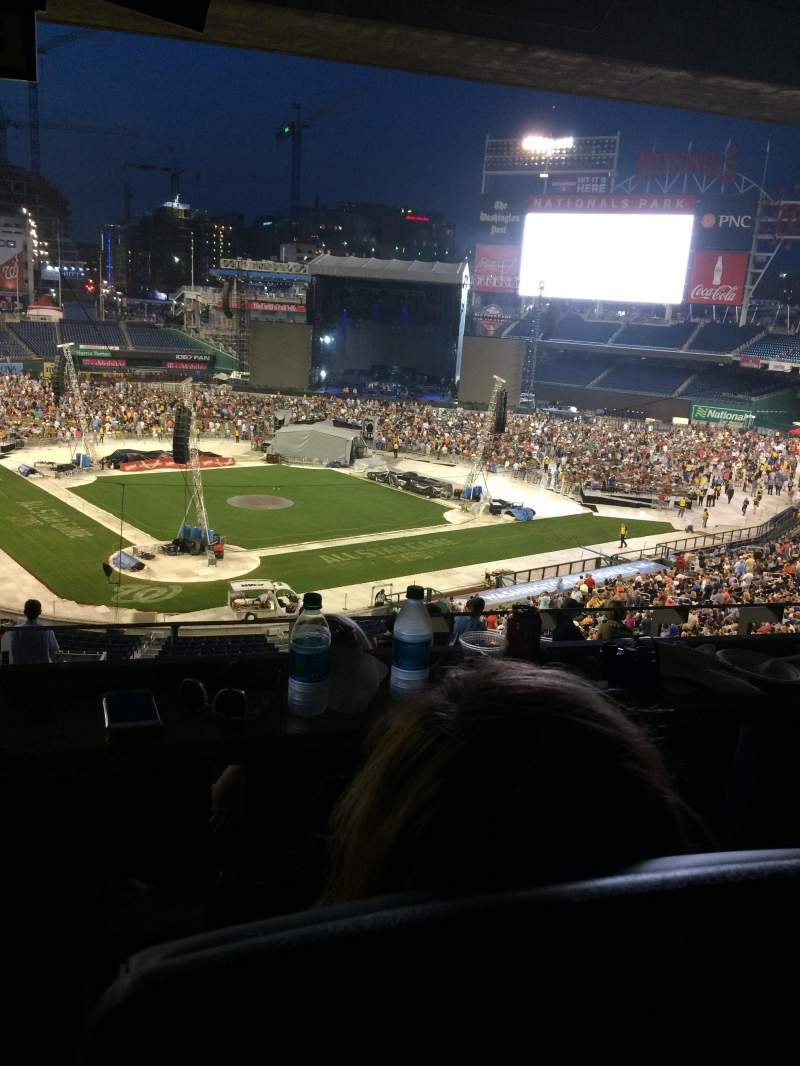 Seating view for Nationals Park Section Lincoln Suite 22