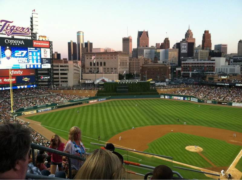 Seating view for Comerica Park Section 330 Row 9 Seat 18