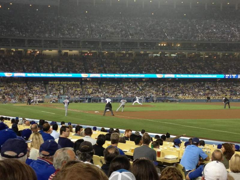 Seating view for Dodger Stadium Section 40FD Row E Seat 1