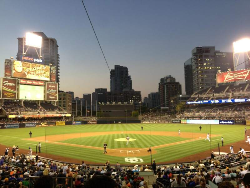 Seating view for Petco Park Section 102 Row 6 Seat 1