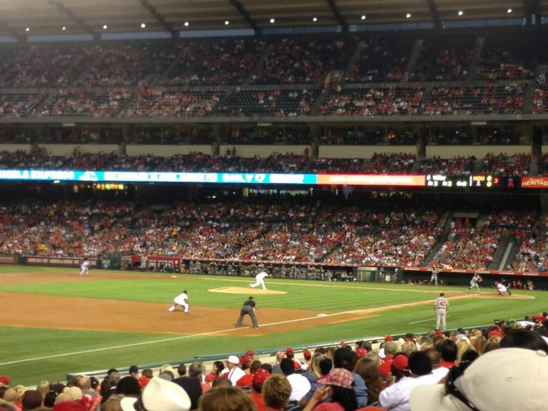 Seating view for Angel Stadium Section 107 Row S Seat 6