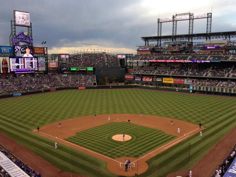 Seating view for Coors Field Section 331 Row 5 Seat 9