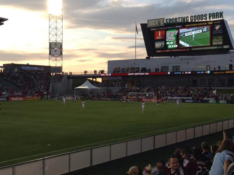 Seating view for Dick's Sporting Goods Park Section 107 Row 7 Seat 7