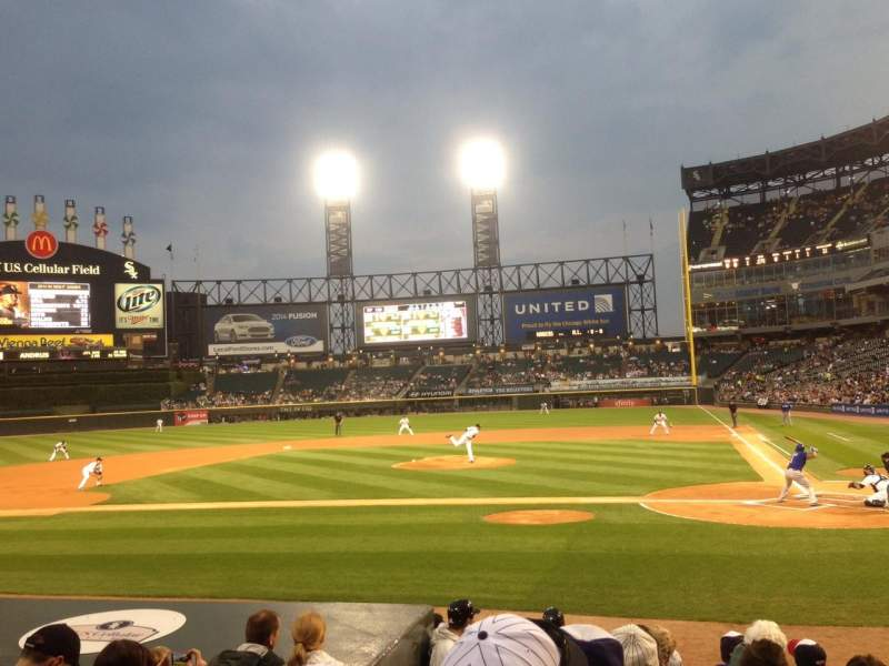 Seating view for Guaranteed Rate Field Section 136 Row 11 Seat 9