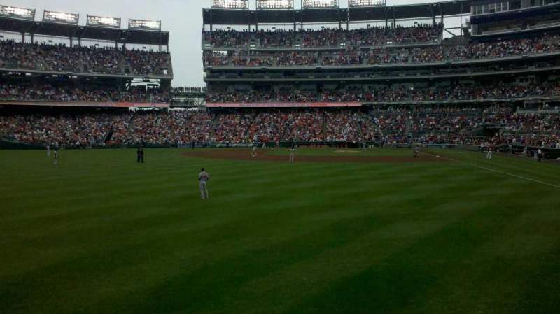 Seating view for Nationals Park Section 105 Row a Seat 16