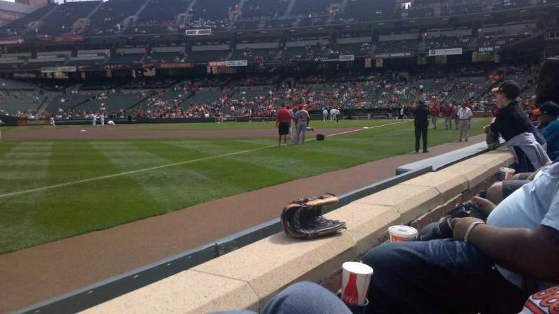 Seating view for Oriole Park at Camden Yards Section 64 Row 1 Seat 4