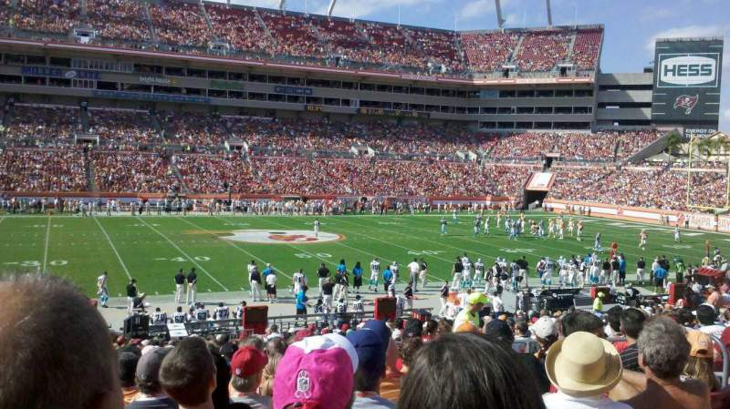 Seating view for Raymond James Stadium Section 134 Row Bb Seat 15