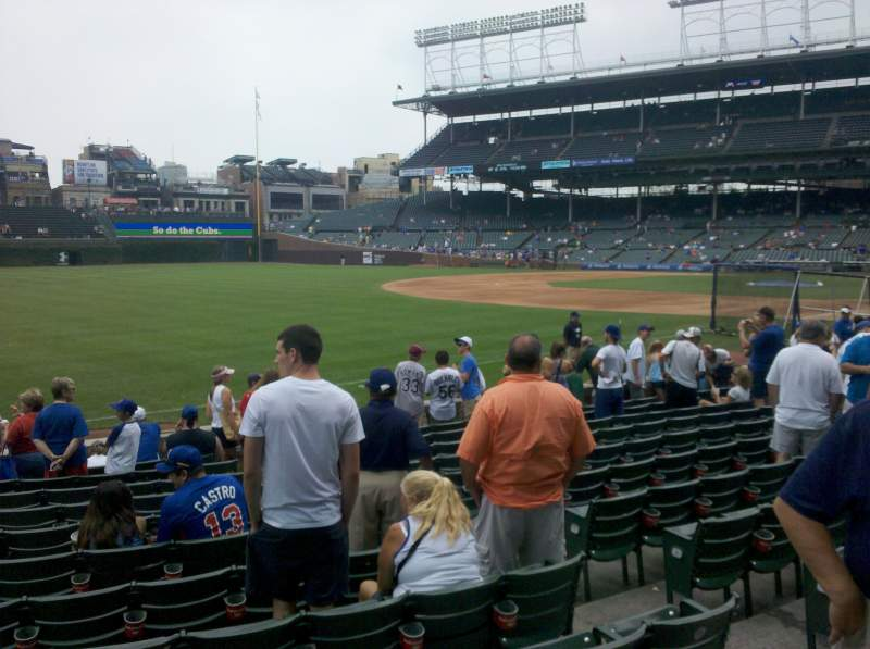 Seating view for Wrigley Field Section 106 Row 1 Seat 101