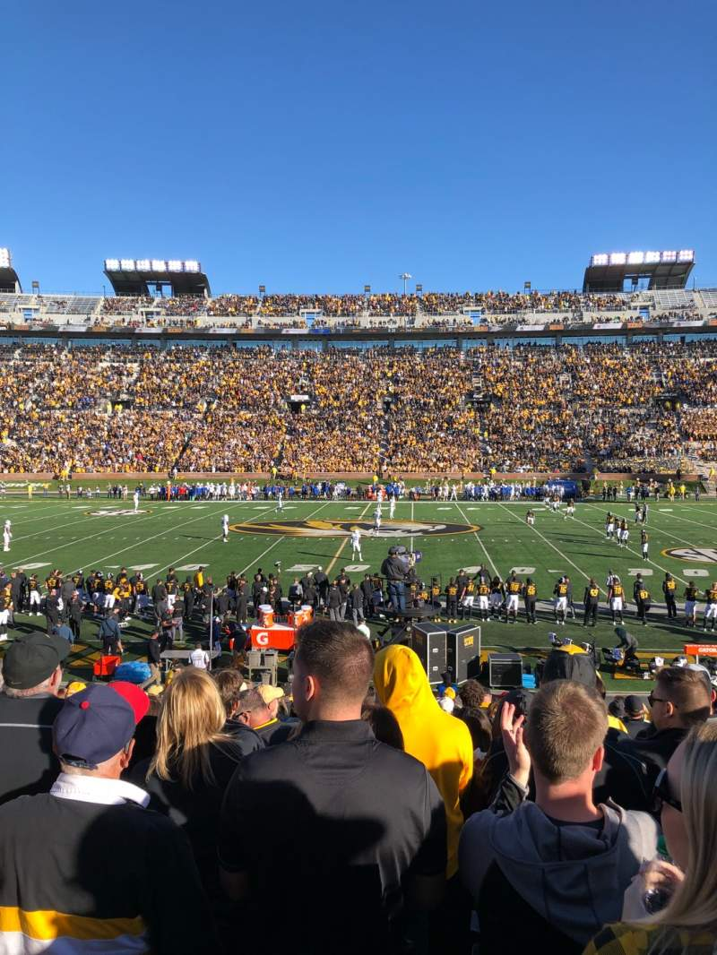 Seating view for Faurot Field Section 121 Row 21 Seat 20