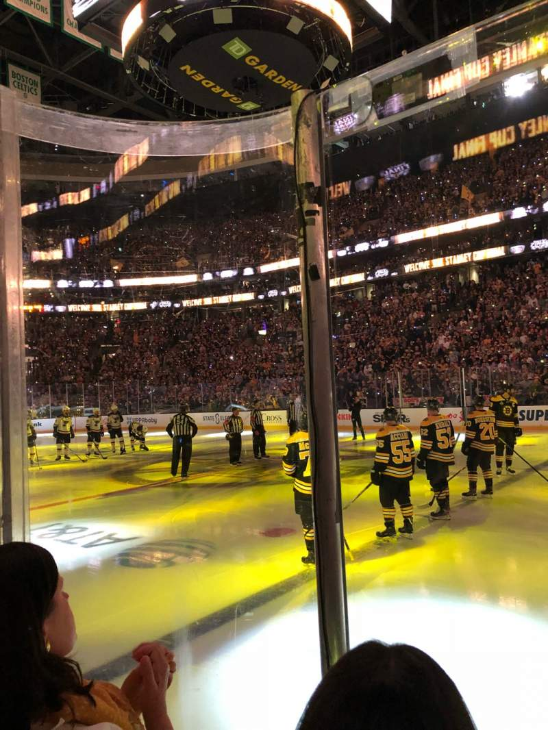 Seating view for TD Garden Section Loge 21 Row 2 Seat 7