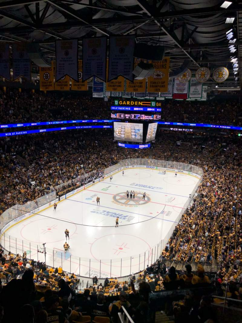 Seating view for TD Garden Section BAL 322 Row 10 Seat 2