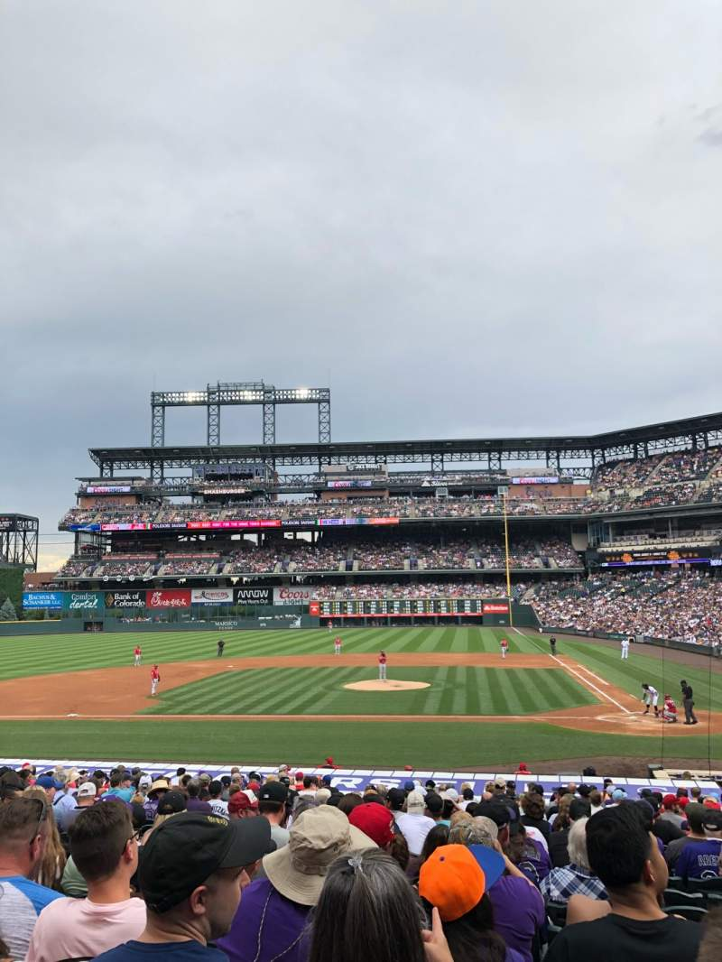 Seating view for Coors Field Section 136 Row 26 Seat 8