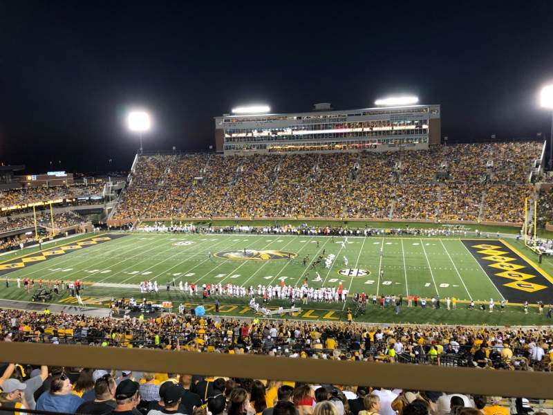 Seating view for Faurot Field Section 213 Row 1 Seat 3