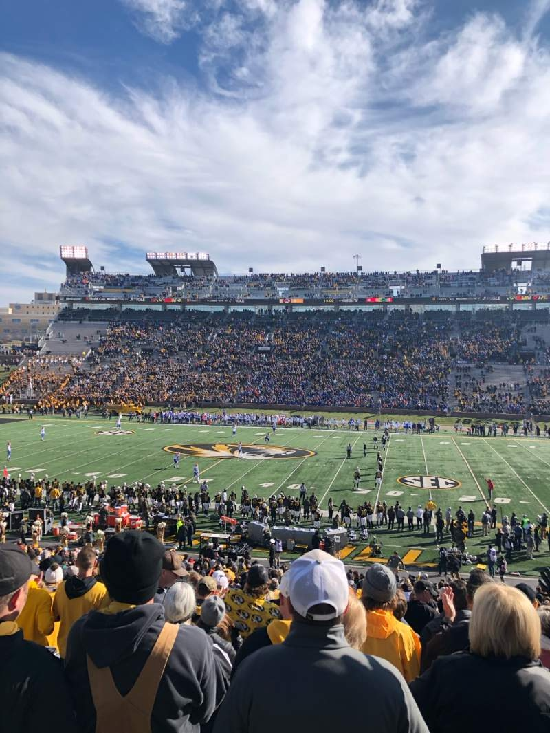 Seating view for Faurot Field Section 122 Row 39 Seat 19
