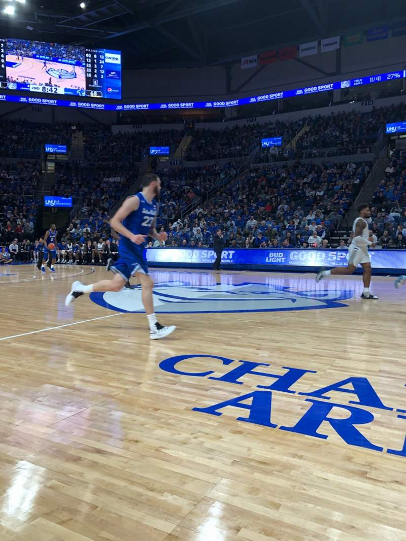 Seating view for Chaifetz Arena Section FLOOR Row 1