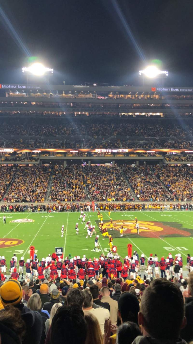 Seating view for Sun Devil Stadium Section 30 Row 27 Seat 8