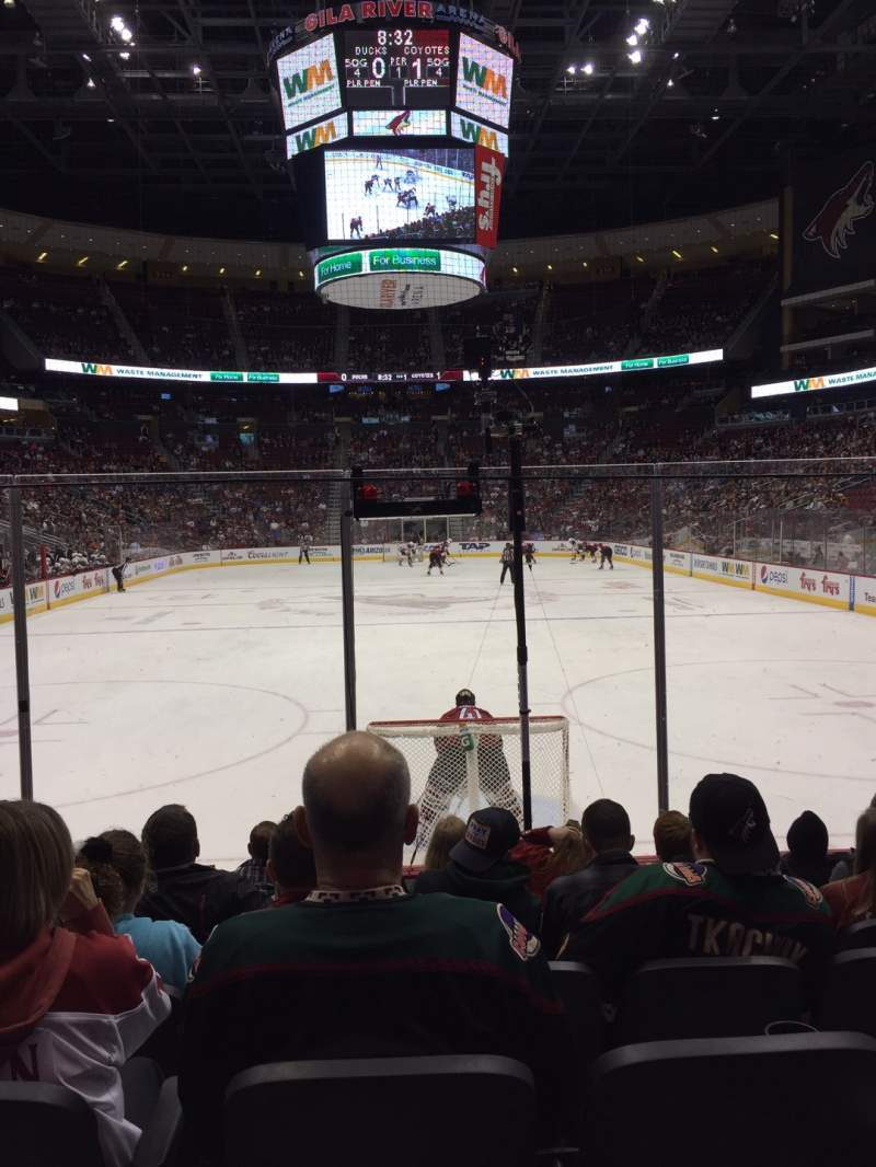 Seating view for Gila River Arena Section 117 Row G