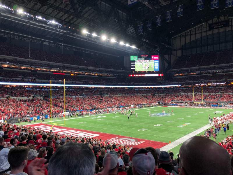 Seating view for Lucas Oil Stadium Section 148 Row 29N Seat 35